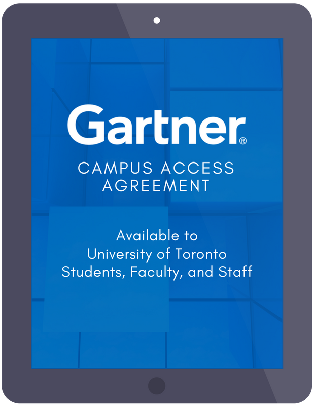 University Of Toronto Gartner Campus Access Agreement